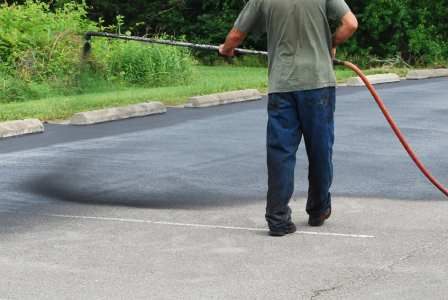 Driveway sealcoating in Colmar Manor by Kelbie Home Improvement, Inc.