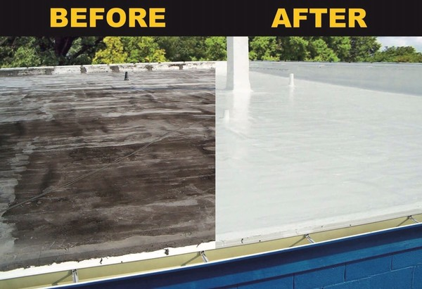 Silicone Roof Coating for Flat Roofs COOL  Roofing in Columbia, MD (7)