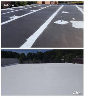Silicone Roof Coating for Flat Roofs COOL  Roofing in Columbia, MD (5)