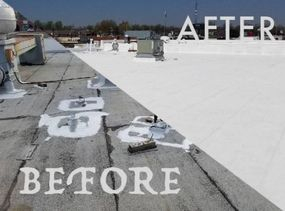 Silicone Roof Coating for Flat Roofs COOL  Roofing in Columbia, MD (2)