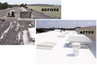 Silicone Roof Coating for Flat Roofs COOL  Roofing in Columbia, MD (1)