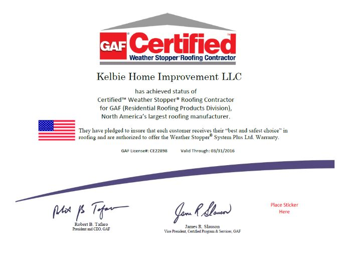 Roofing Contractor Columbia Md Kelbie Home Improvement