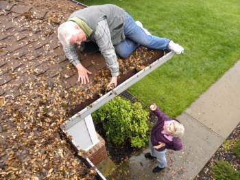 Gutter Cleaning in Russett Maryland