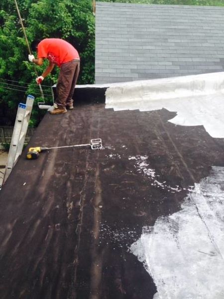 Coating Flat Roof in Baltimore City, MD (1)