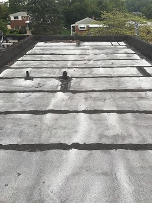 Before & After New Flat Roof in Baltimore, MD (1)