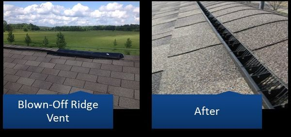 Before & After Ridge Vent Repair in Columbia, MD (1)